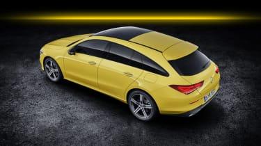 2019 Mercedes CLA Shooting Brake - aerial rear