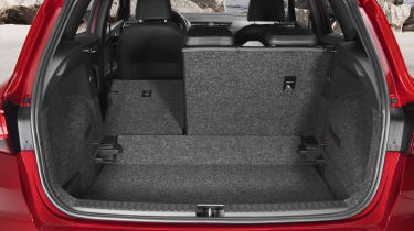 When the rear seat is folded flat, bootspace expands to 823 litres.