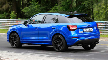 2019 Audi SQ2 spotted during track tests – Credit: Automedia
