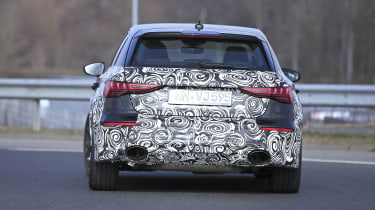 2021 Audi RS3 prototype rear end