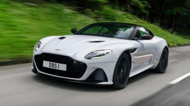 Aston Martin DBS Superleggera front 3/4 tracking