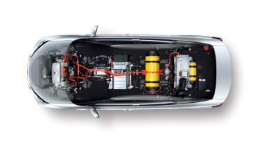 Fuel cell technology is advancing. You can see the super-tough fuel tank in the middle of the car