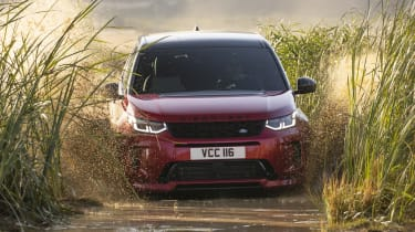 Facelifted Land Rover Discovery Sport - off-roading in water