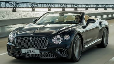 Bentley Continental GT V8 convertible front tracking