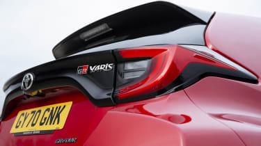 Toyota GR Yaris hatchback rear lights