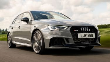 Audi RS3 front 3/4 tracking