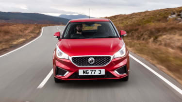 MG3 driving - front end