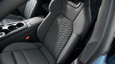 Audi e-tron GT saloon review front seats