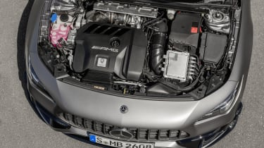 2019 Mercedes-AMG CLA 45 S Shooting Brake - engine bay static view