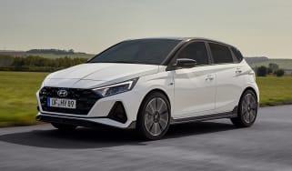 2021 Hyundai i20 N Line - front 3/4 dynamic