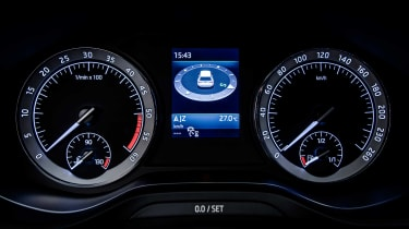 Instrument dials are clear and easy to read