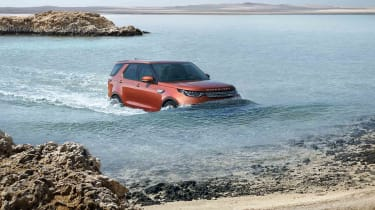 The new Land Rover Discovery can wade in water up to 900mm deep