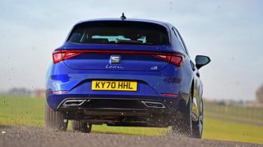 SEAT Leon e-Hybrid hatchback rear cornering