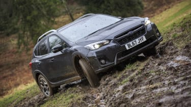 A system called X-MODE also helps keep the XV under control in slippery conditions or during steep descents