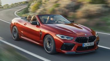 BMW M8 Competition convertible - front view 3/4 cornering