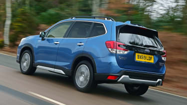Subaru Forester driving - rear view
