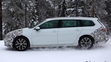 2019 Volkswagen Passat Estate spy shot side
