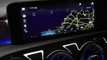 Mercedes CLA Shooting Brake navigation screen