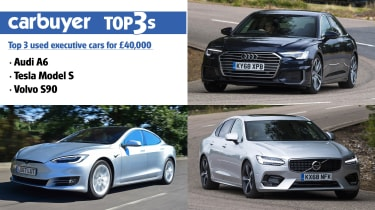Top 3 used executive cars for £40,000 - hero
