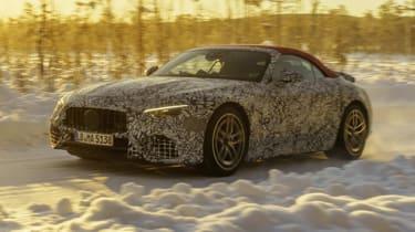 2021 Mercedes SL winter testing