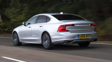 Volvo S90 - rear 3/4 view