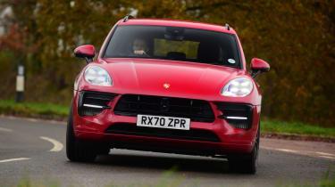 Porsche Macan SUV front cornering