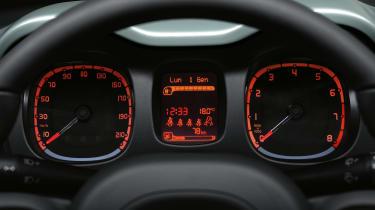 Fiat Panda mild hybrid dials