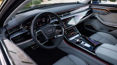 Audi S8 saloon interior