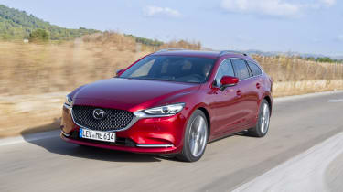 Mazda6 Tourer driving - front view