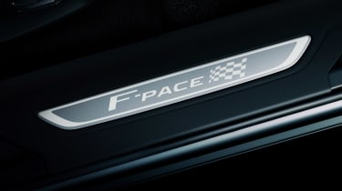 Jaguar F-Pace Chequered Flag Edition badge
