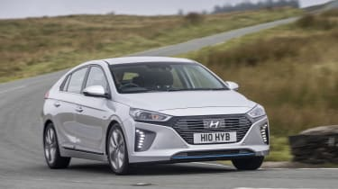 The Hyundai Ioniq's main selling point is that it's cheaper than its major rival, the Toyota Prius