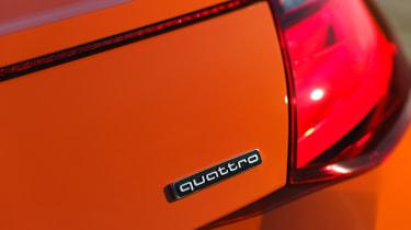 Audi TT Coupe quattro badge