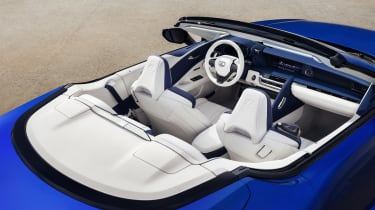 Lexus LC500 Convertible interior - top view