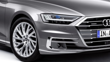 The Audi A8 is also able to read the road ahead, to pre-warn the suspension of bumps approaching