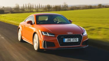Audi TT Coupe front action