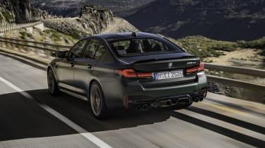 2021 BMW M5 CS - rear 3/4 dynamic