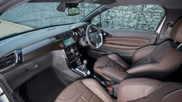 Upmarket interior trims are available, including leather seats with a watchstrap-style design