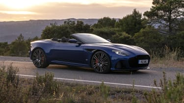 Aston Martin DBS Superleggera Volante side static