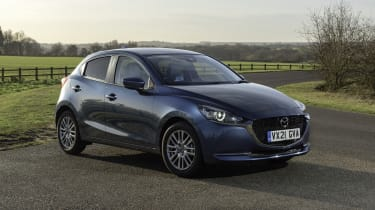 Mazda2 - front 3/4 static countryside