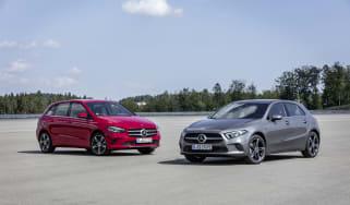 Mercedes A250e and B250e plug-in hybrids