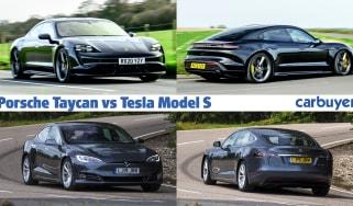 Porsche Taycan vs Tesla Model S header