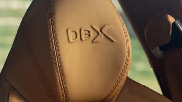 Aston Martin DBX headrest detailing