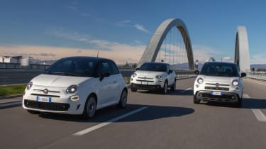 Fiat 500, 500X and 500L Hey Google models