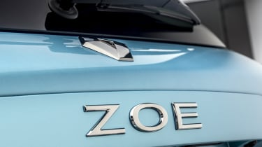 New Renault ZOE - rear badging