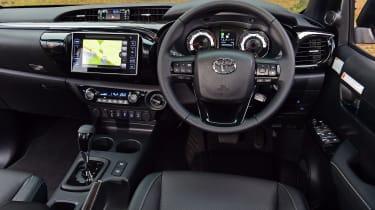 Toyota Hilux pickup interior