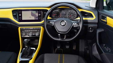 Volkswagen T-Roc SUV interior yellow
