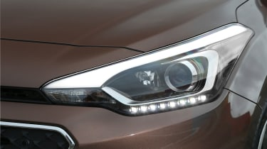 The Hyundai i20 comes with daytime running lights as standard with the S trim