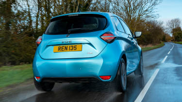 Renault ZOE old vs new rear 3/4 driving