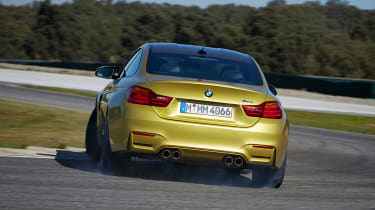 BMW M4 coupe 2014 rear cornering