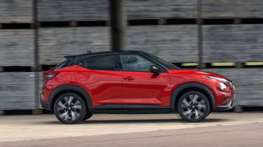 New Nissan Juke driving - side view